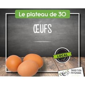 Oeufs (plateau de 30 pc)...